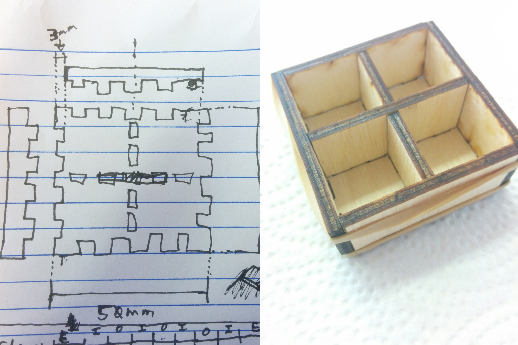 test box sketch and assembly