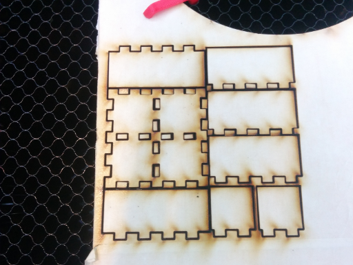 what comes out of the laser cutter