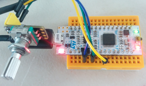STM32 with rotary encoder