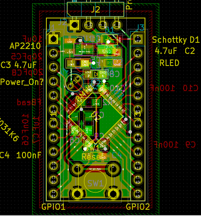 STM32 board, connected