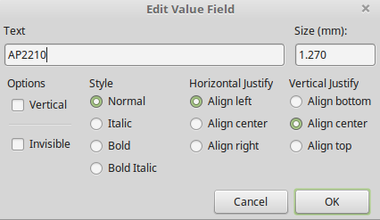 """Edit Label"" dialog"