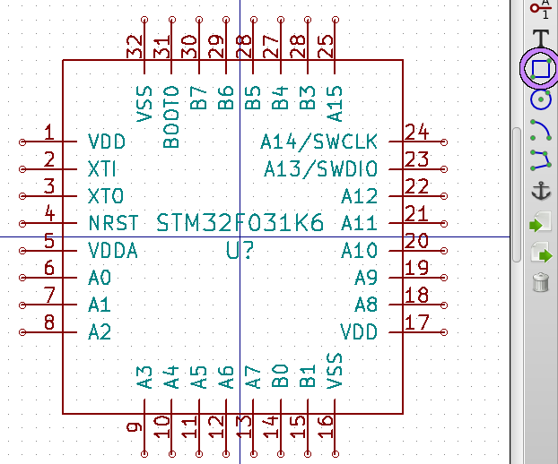 Finished STM32F031K6 part