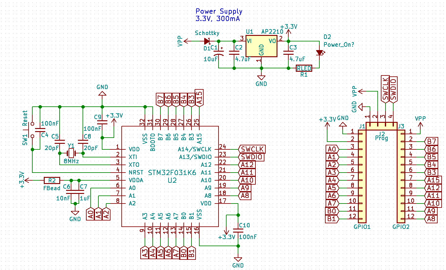 Your Own Hardware: Using KiCAD to Design a Minimal STM32