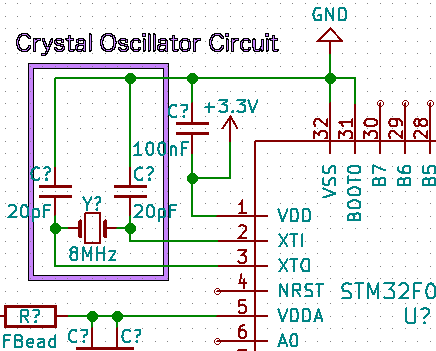 3: Add a crystal oscillator.