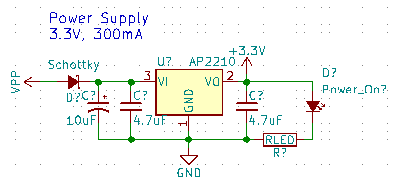 Power supply circuit with text label