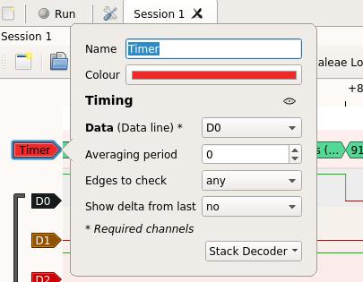 Timer Configuration Menu
