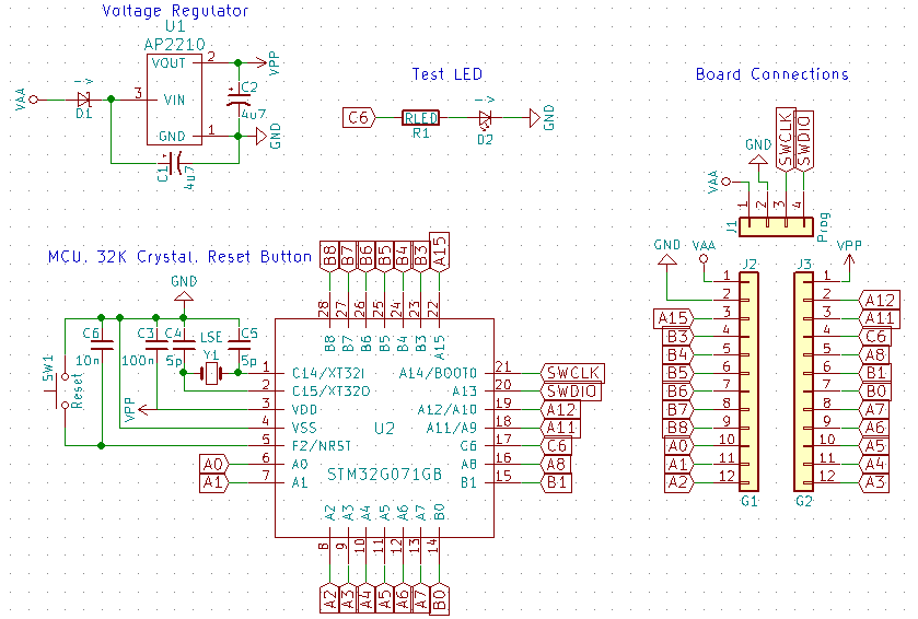 STM32G071GB schematic