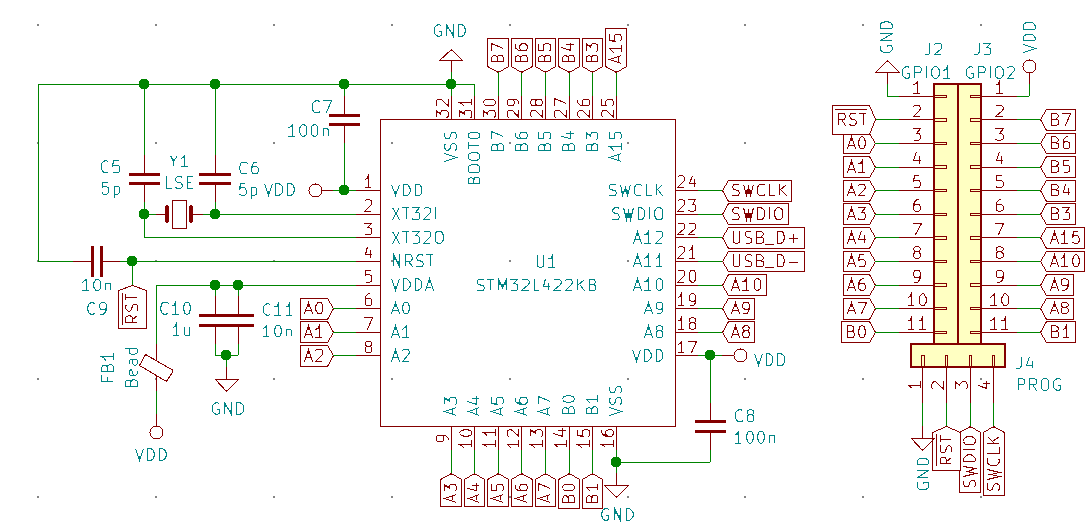 STM32L422KB_circuit