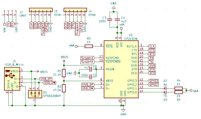 CP2102N Schematic