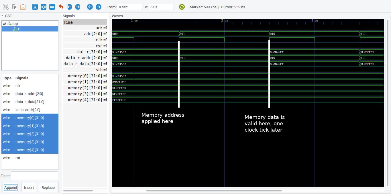 viewing memory access delay