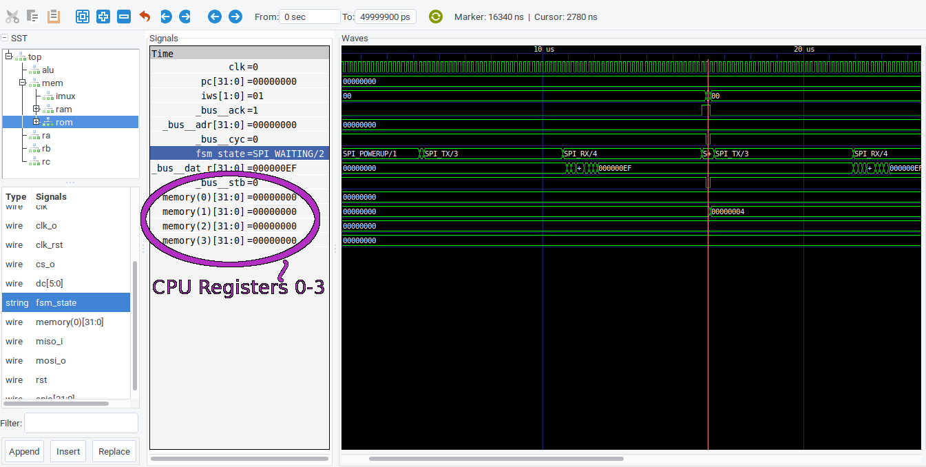 """CPU """"infinite loop"""" program simulation"""