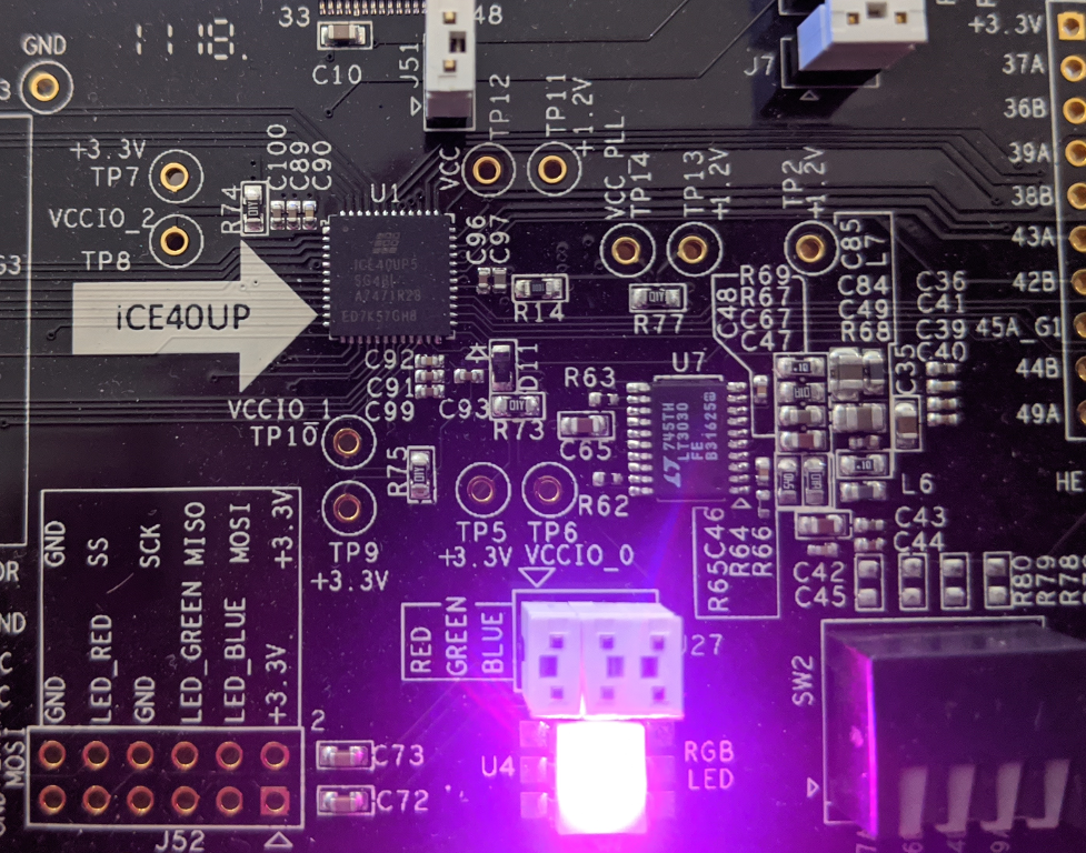 Slightly-dimmer LED driven by PWM